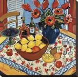 The Lemon Bowl Reproduction sur toile tendue par Suzanne Etienne