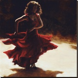Spirit of Flamenco Stretched Canvas Print by Amanda Jackson