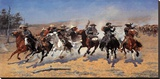 A Dash For Timber Stretched Canvas Print by Frederic Sackrider Remington