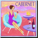 Cabernet Stretched Canvas Print by Jennifer Brinley