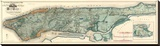 Sanitary and Topographical Map of the City and Island of New York, c.1865 Stretched Canvas Print by Egbert L. Viele