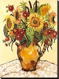 Farmer's Market Sunflower Impressão em tela esticada por Suzanne Etienne