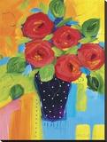 Spring Blooms In Blue Vase II Toile tendue sur châssis par Natasha Barnes