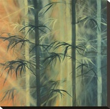 Bamboo Groove II Stretched Canvas Print by Kate Ruff