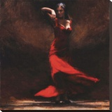Passion of Flamenco Stretched Canvas Print by Amanda Jackson