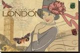 ロンドン キャンバスプリント : マリア・ウッズ