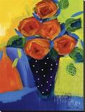 Spring Blooms In Blue Vase I Toile tendue sur châssis par Natasha Barnes