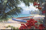 Tropical Hideaway Stretched Canvas Print by Nenad Mirkovich