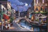 Streets of Venice II Stretched Canvas Print by Alma Lee