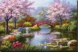 Jardim japonês em flor Impressão em tela esticada por Sung Kim