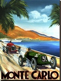 Monte Carlo Stretched Canvas Print by Chris Flanagan