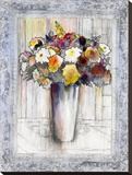 Bordered Bouquet II Stretched Canvas Print by Hooshang Khorasani