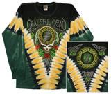 Long Sleeve: Grateful Dead - Gd Shamrock V-dye - T-shirt