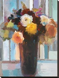 Floral Fete Stretched Canvas Print by Hooshang Khorasani
