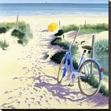 La Parasol Jaune Stretched Canvas Print by Henri Deuil