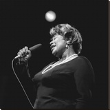Ella Fitzgerald Stretched Canvas Print by Lee Tanner