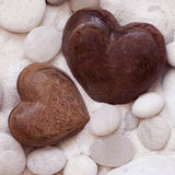 Black Stone Hearts Print by Andrea Haase