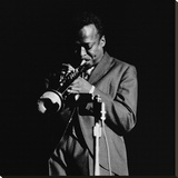 Miles Davis Stretched Canvas Print by Lee Tanner