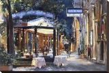 Cafe di Paris Via Veneto Stretched Canvas Print by Alexander Sergeeff