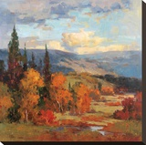Autumn Mountains Stretched Canvas Print by K. Park