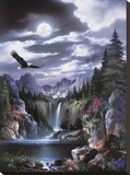 Moonlit Eagle Leinwand von Alma Lee
