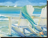 Seaside Breeze Stretched Canvas Print by Kathleen Denis