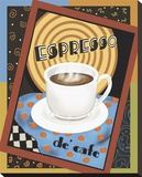 Espresso de Cafe Stretched Canvas Print by Betty Whiteaker