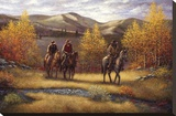 Fall Riders Stretched Canvas Print by Joe Sambataro