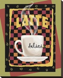 Latte Delicieux Stretched Canvas Print by Betty Whiteaker
