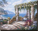 Floral Patio II Stretched Canvas Print by Sung Kim