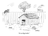 """""""It's an illegal sublet."""" - New Yorker Cartoon Premium Giclee Print by David Sipress"""