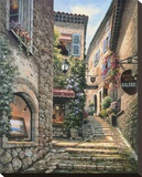 Gallery Steps Stretched Canvas Print by Sung Kim