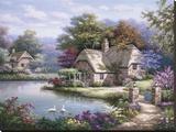 白鳥のいる小さな家I キャンバスプリント : ソン・キム