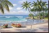 Tropical Bay Impressão em tela esticada por Sung Kim