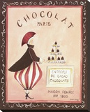 Chocolat, Paris Stretched Canvas Print by Katharine Gracey
