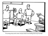 """I'm starting slowly with a trainer who just stands around talking about h…"" - New Yorker Cartoon Premium Giclee Print by Bruce Eric Kaplan"