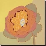 Orange Pop Flower Stretched Canvas Print by Monica Kuchta