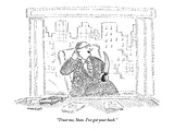 """Trust me, Stan. I've got your back."" - New Yorker Cartoon Premium Giclee Print by Robert Mankoff"