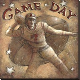 Game Day Stretched Canvas Print by Janet Kruskamp