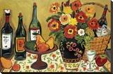 Country Pears with Wine Impressão em tela esticada por Suzanne Etienne
