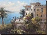 Enchanted Villa Stretched Canvas Print by  Hilger