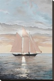 Schooner in the Sun Stretched Canvas Print by Robert G. Radcliffe