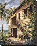 Tropical Villa II Impressão em tela esticada por J. Martin