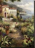 Villa's Garden Path Impressão em tela esticada por Peter Bell