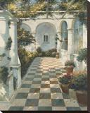 Courtyard Villa II Bedruckte aufgespannte Leinwand von Vitali Bondarenko