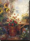 Sunflower Garden I Stretched Canvas Print
