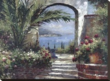 Rose Arch Stretched Canvas Print by Peter Bell