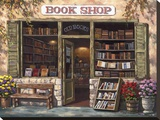 Book Shop Stretched Canvas Print by Sung Kim