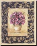 Begonia Rose Opspændt lærredstryk af Shari White