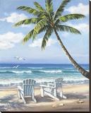 Hidden Beach Impressão em tela esticada por Sung Kim